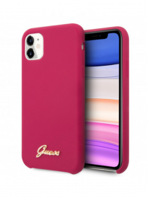 Coque GUESS® Silicone Rose...
