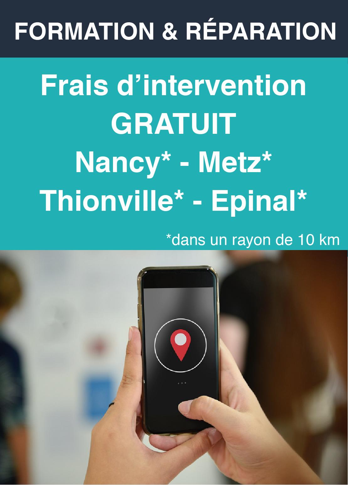 Frais d'intervention gratuit - Metz - Nancy - Thionville